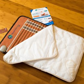 Cotton top padded waterproof cover for mat (1)