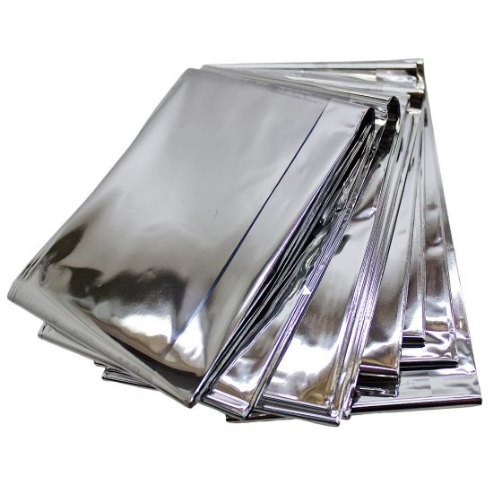Heat Reflective Survival Mylar Thermal Space Blanket Body Wrap 84x84 Silver (11)