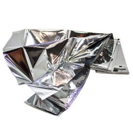 Heat Reflective Survival Mylar Thermal Space Blanket Body Wrap 84x84 Silver (19)