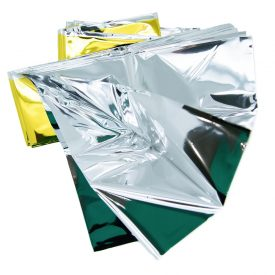 Heat Reflective Survival Mylar Thermal Space Blanket Body Wrap 84x84 Silver Gold (4)