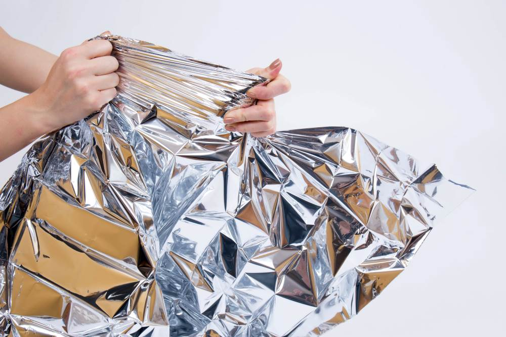 Heat Reflective Survival Mylar Thermal Space Blanket