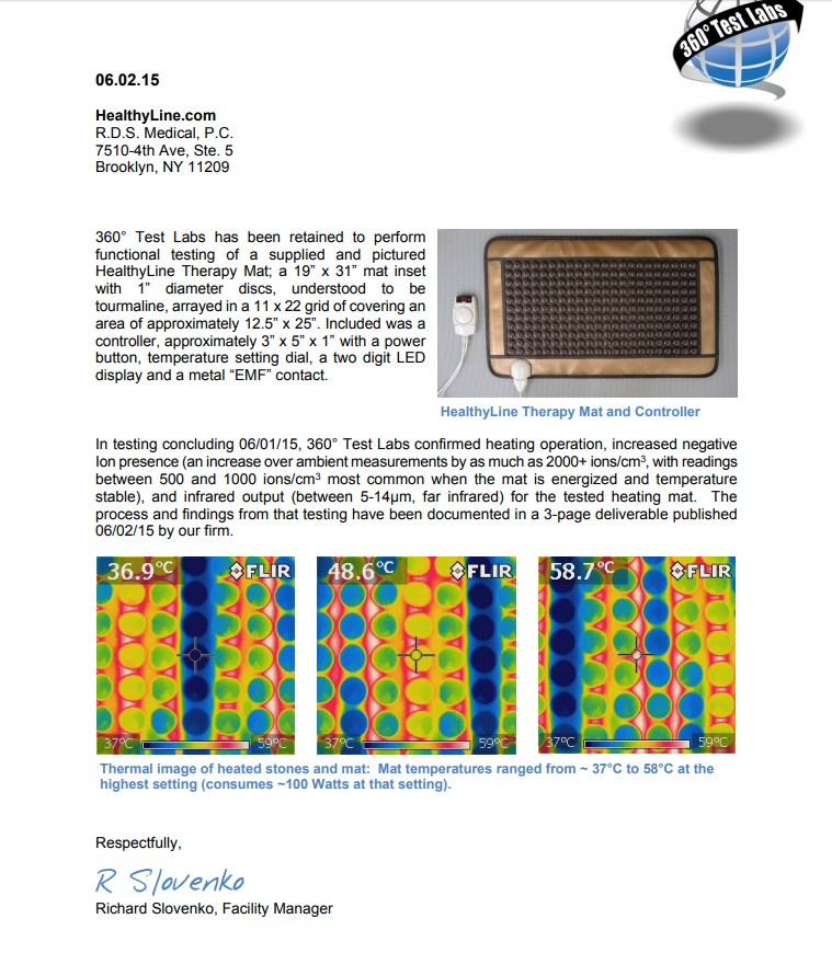 Far Infrared Rays and Negative Ions Certificate