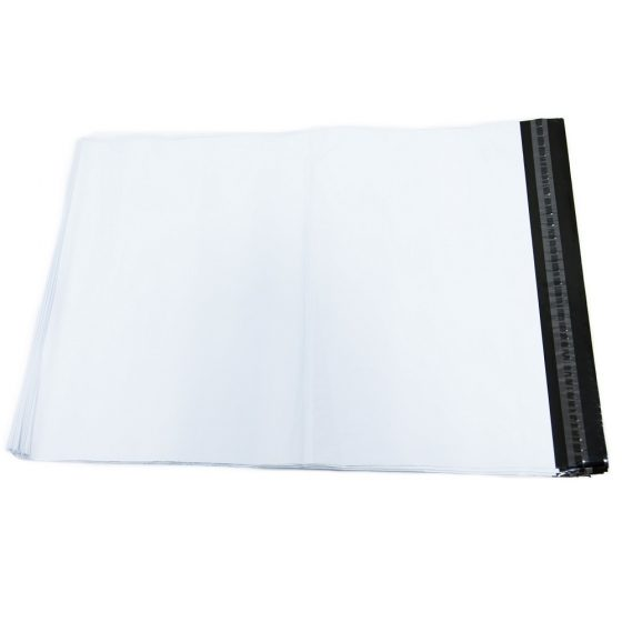 White Poly Mailer Envelopes Shipping Bags with Self Adhesive, Waterproof and Tear Resistant Postal Bags (15)
