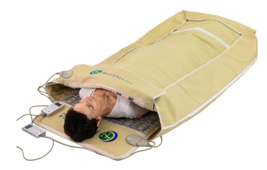 the HealthyLine Cocoon series provides the same far-infrared sauna benefits