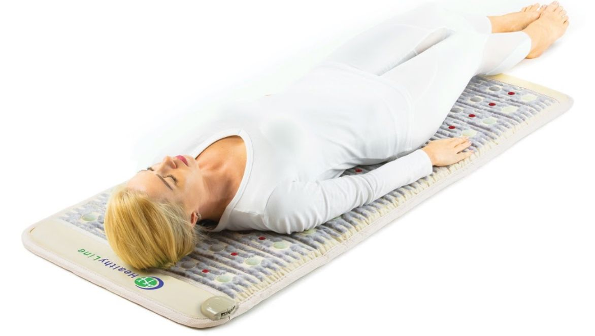 Instead of going through the trouble of scheduling appointments with doctors and traveling, you can treat your Parkinson's disease symptoms at home with a HealthyLine PEMF-enabled mat. Shown here: TAJ-Mat™
